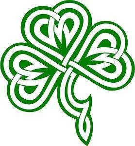 Clover / Shamrock Celtic Knot Decal /Sticker  You Pick Color