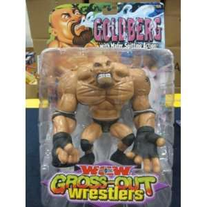 TOY BIZ WCW GROSS OUT WRESTLERS GOLDBERG FIGURE WITH WATER