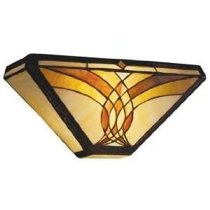 """Art Glass Joined Curves 15"""" Wide Sconce"""