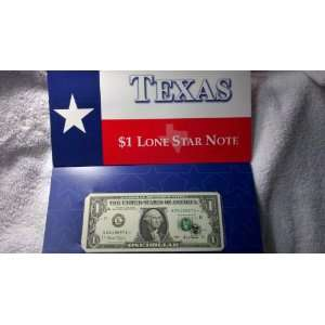 US Mint $1 Dollar Bill Series 2001 Texas Star U.S. Paper