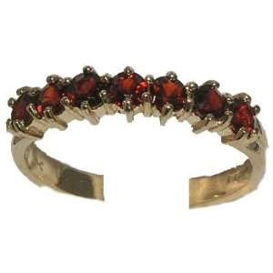 Yellow Gold Ladies Deep Red Garnet Anniversary Eternity Ring   Size 10