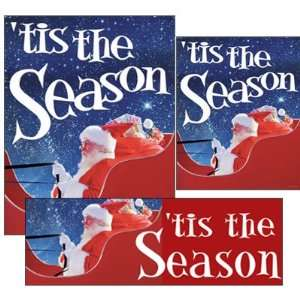 Tis the Season   14pc Big Format Sign Kit: Office Products