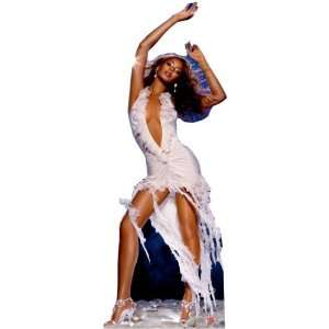 Beyonce (White Dress) Life Size Standup Poster: Home