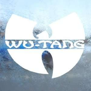 Wu Tang Clan White Decal Rap Rock Band Laptop Window White