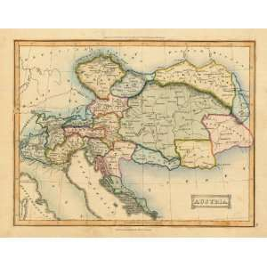 Ewing 1835 Antique Map of Austria: Office Products