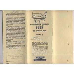 1956 Greyhound Bus Lines Travel Bureau Tour Documents
