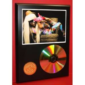 Lady Ga Ga 24kt Gold Cool Music Art CD Disc Display
