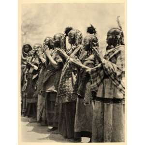1930 Africa Aulad Hamid Arab Women Costume Dance Sudan   Original