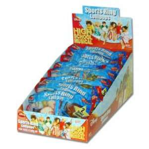 High School Musical Sports Ring Lollipops, 12 count display box
