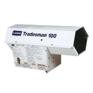 LB White Tradesman 100 Portable Forced Air Heater   Propane (100,000