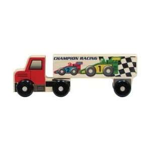 Wood Semi Truck Toy   Race Cars: Toys & Games