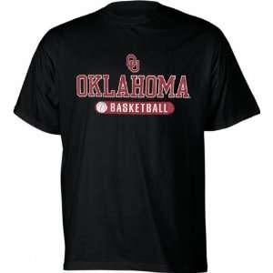 Oklahoma Sooners Black Basketball Highlight T Shirt