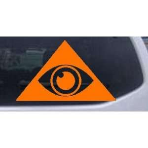 Orange 32in X 19.6in    Illuminati Eye Masonic Car Window Wall Laptop