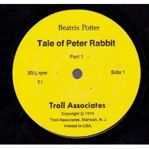 The Tale of Peter Rabbit [7, 33rpm Record] Beatrix Potter Music