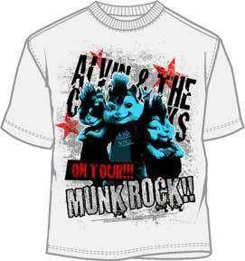 ALVIN+CHIPMUNKS T Shirt Tee NEW  Munk Rock  (KID L)