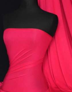 Hot pink viscose cotton stretch lycra fabric material