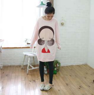 Cute Korean Women Cartoon Printing T shirt Top 0738