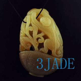 Natural Hetian Nephrite Jade Carving / Pendant Monkey