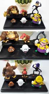Super Mario Bros Figures Donkey Kong Waluigi Wario Ghost Goomba