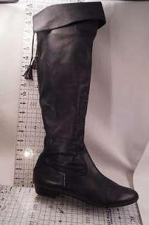 Arturo Chiang Black Super soft Leather 8.5 m Womens Knee High OTK