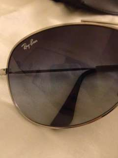 Ray Ban Aviator Black/Silver Sunglasses RB 3298 003/8G
