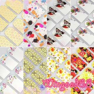 Finger Toe Sticker Nail Art Transfer Decal Armour Wrap Patch Foil