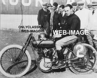 1921 HARLEY DAVIDSON MOTORCYCLE BOARD TRACK RACER PHOTO