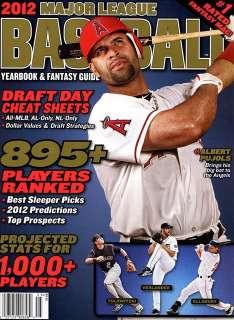 2012 Major League Baseball Magazine ANAHEIM ANGELS ALBERT PUJOLS