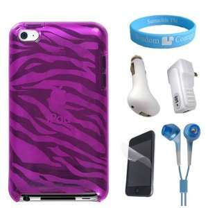 Perfect fit Silicone Pink Zebra Case for 4th Generation