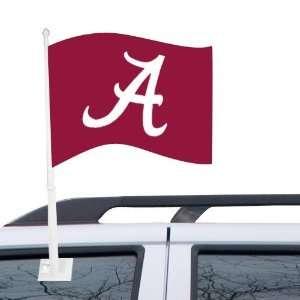 NCAA Alabama Crimson Tide Crimson Car Flag