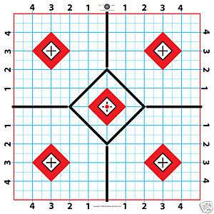 100 Yard Rifle Paper Target Great for Sighting in Scope Fast Free