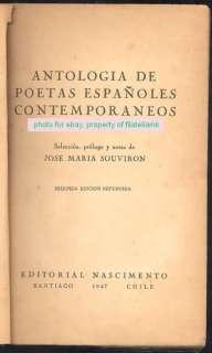 Jose Maria Souviron Book Antologia De Poetas Españoles |