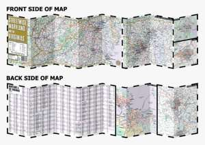 Streetwise Washington, DC Map   Laminated City Center