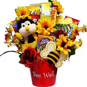 Bee Well Soon Chocolate and Candy Bouquet Gift Basket