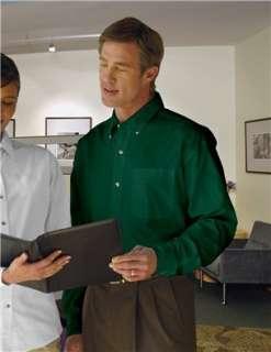 Easy Care Ambassador Long Sleeve Dress Shirt   Forest Green: Clothing