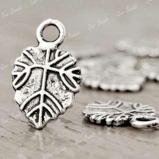 100pcs Tibetan Tibet Silver leaf Charms Pendants TS1147