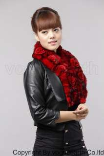 555 new real Rex rabbit fur 5 color scarf/shawl/wrap