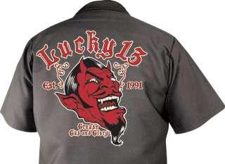 LUCKY~13 Grease Gas Glory Mechanic Work Shirt S 3X