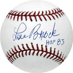 Brock Autographed MLB Baseball with HOF Inscription