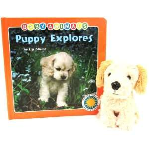 Explores   a Smithsonian Baby Animals Book (with stuffed toy baby