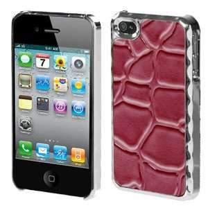 Hot Pink Silver Plating Stone Texture Alloy Executive Back
