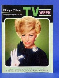 Nov 23, 1963 Chicago Tribune Newspaper TV WEEK Joey Heatherton MINT
