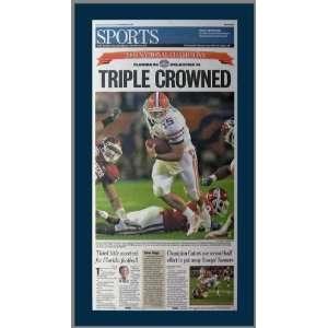 Florida Gators   Triple Crowned   NCAA Champs 2008   Wood