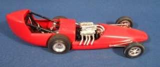 Vintage 1960s Built Up Red Dragster Car Model Kit