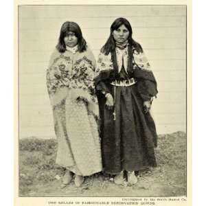 1906 Print Ute Belle Reservation Native American Dress