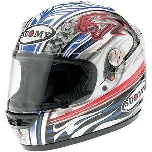 Suomy Vandal Biaggi Helmet   Small/White/Blue/Red