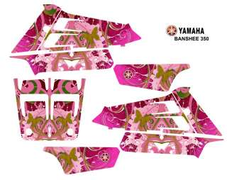 Yamaha Banshee 350 ATV Quad Graphics Kit Hot Pink