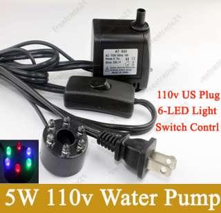 LED Color Submersible Water Pump Fountain Pond Aquarium 200L/ H