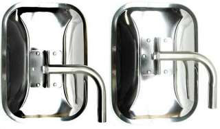 TWO F/S CHEVY FORD DODGE WEST COAST MIRRORS WESTCOAST STAINLESS STEEL