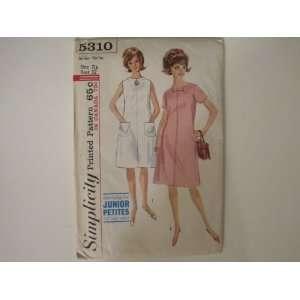 Simplicity Pattern 5310 Junior Petite One Piece Dress, Size 7/Bust 32